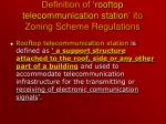 definition of rooftop telecommunication station ito zoning scheme regulations