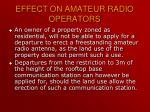 effect on amateur radio operators1