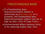 freestanding base