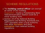 scheme regulations