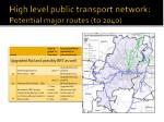 high level public transport network potential major routes to 20402