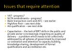 issues that require attention