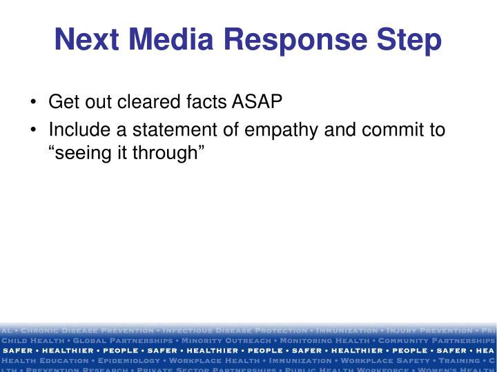 Next Media Response Step