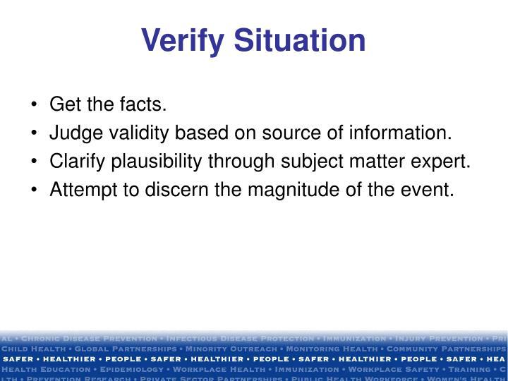 Verify Situation