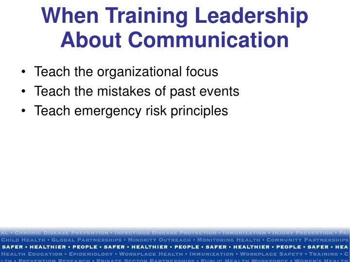When Training Leadership About Communication