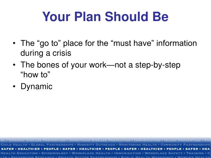 Your Plan Should Be