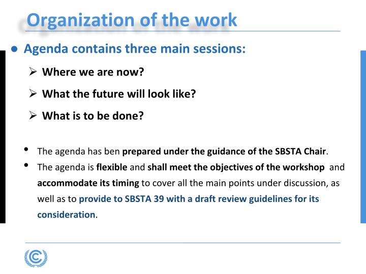 Agenda contains three main sessions: