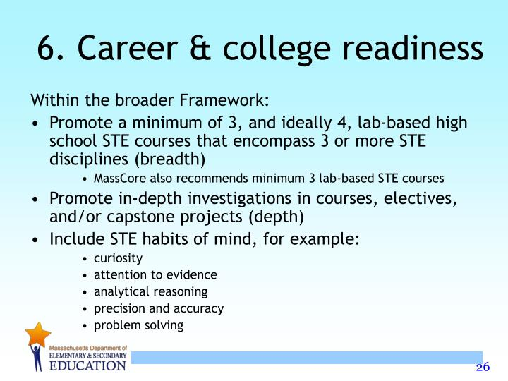 6. Career & college readiness