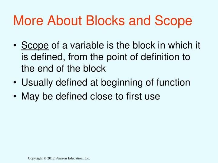 More About Blocks and Scope