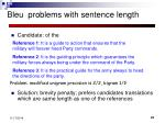 bleu problems with sentence length