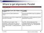 where to get alignments parallel corpora