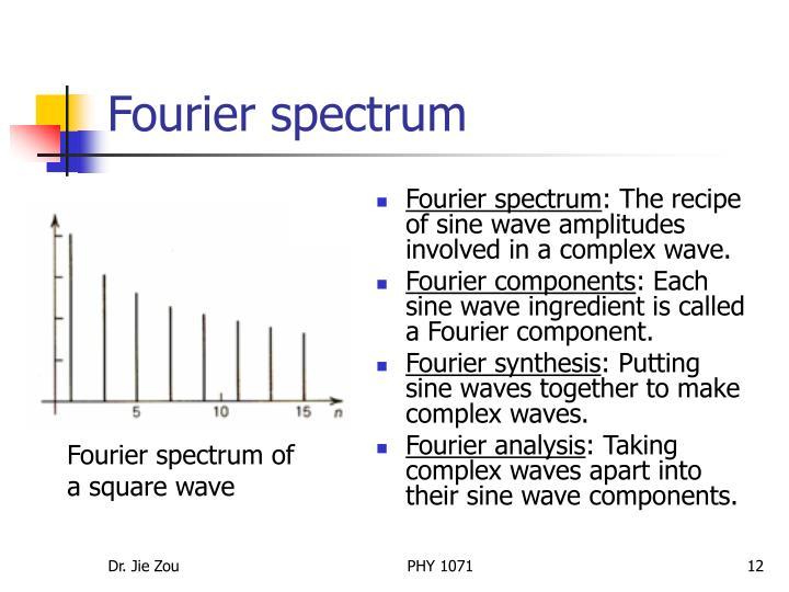 Fourier spectrum