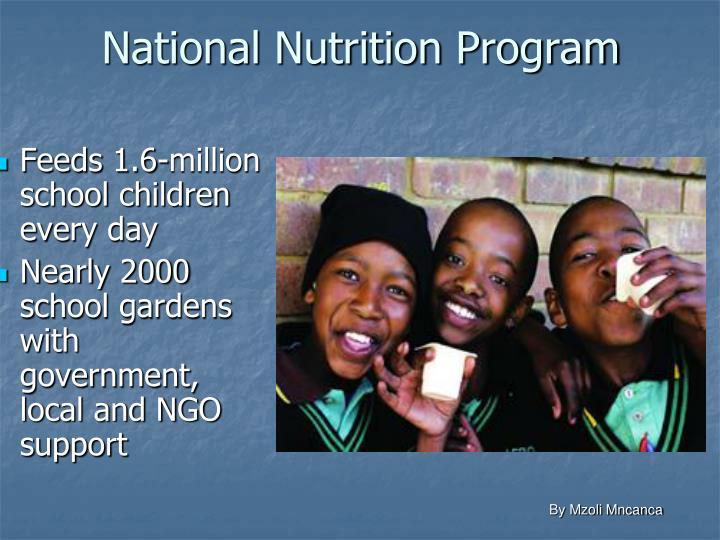 National Nutrition Program