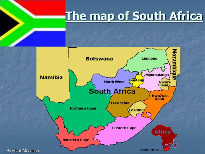 The map of south africa