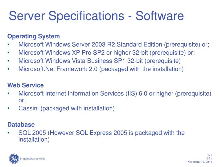 Server Specifications - Software