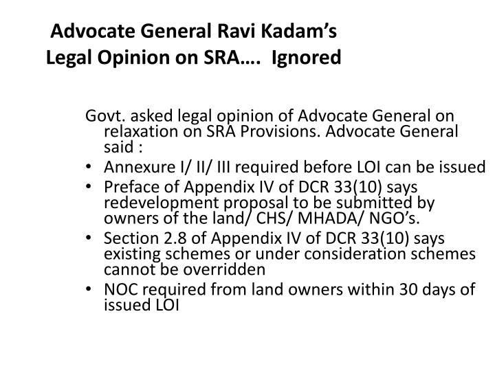 Advocate General Ravi Kadam's