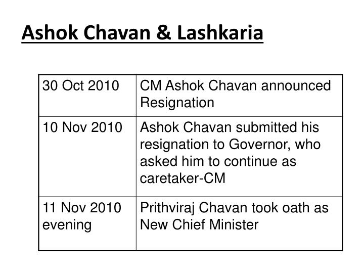 Ashok Chavan & Lashkaria