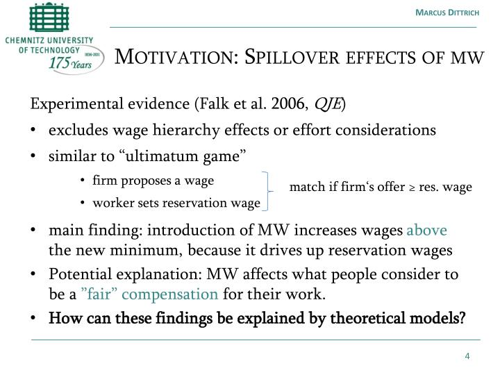 Motivation: Spillover