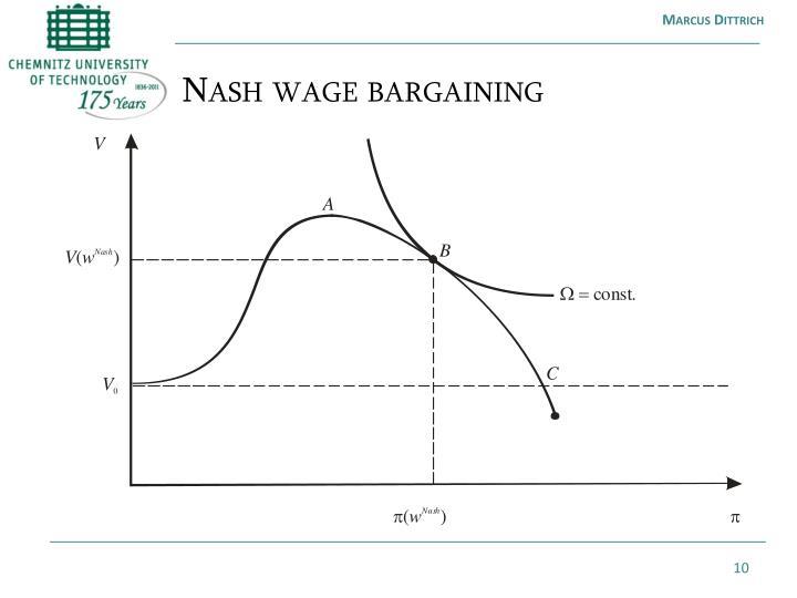 Nash wage bargaining