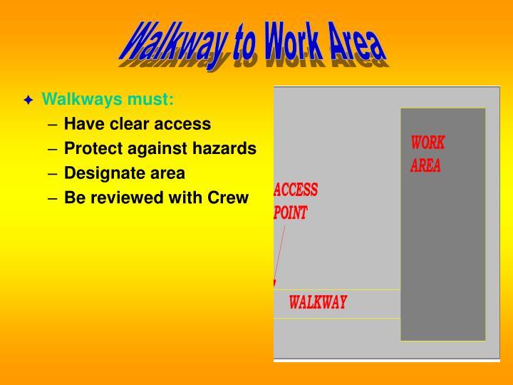 Walkway to Work Area