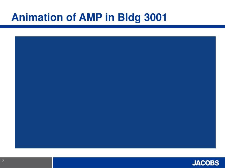 Animation of AMP in Bldg 3001