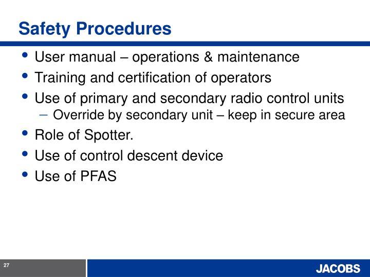 Safety Procedures