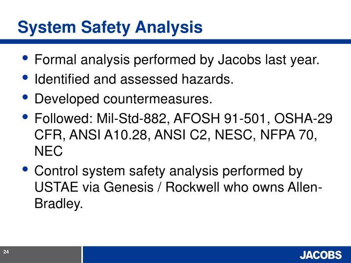 System Safety Analysis