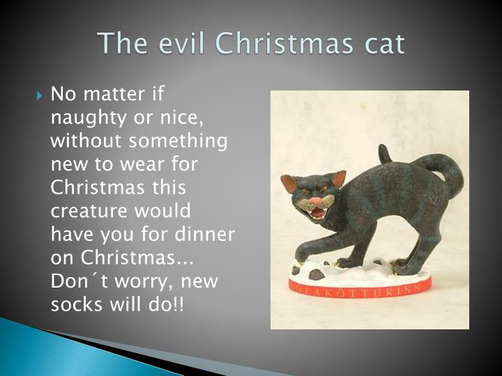 The evil Christmas cat
