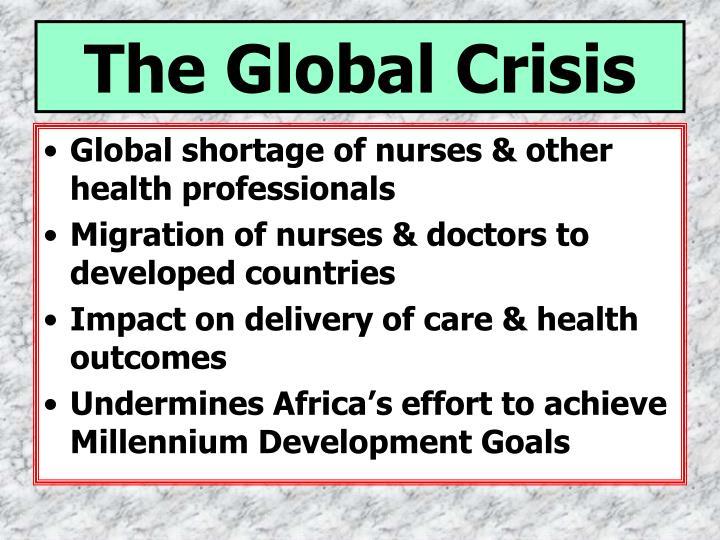 The global crisis