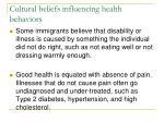cultural beliefs influencing health behaviors