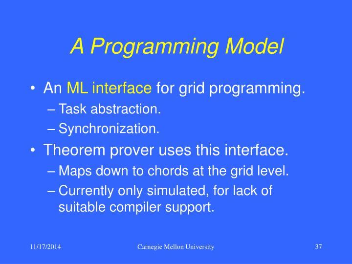 A Programming Model