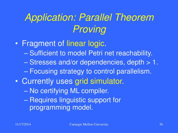 Application: Parallel Theorem Proving
