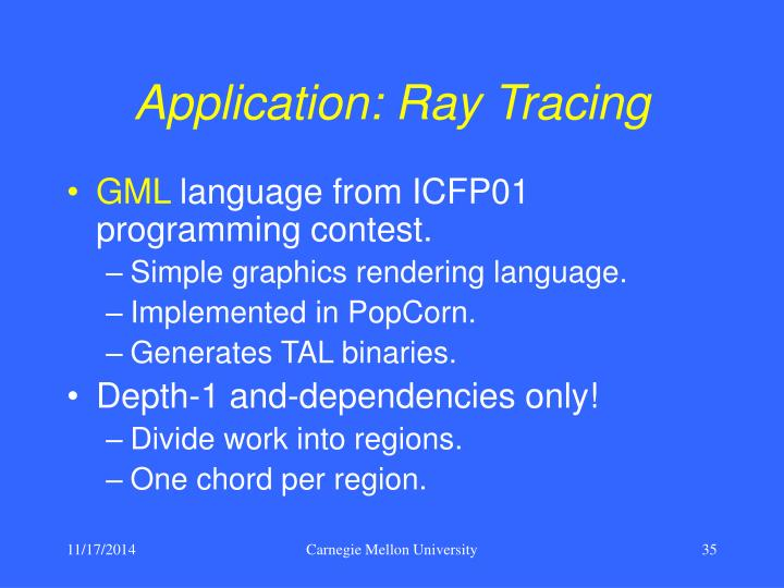 Application: Ray Tracing