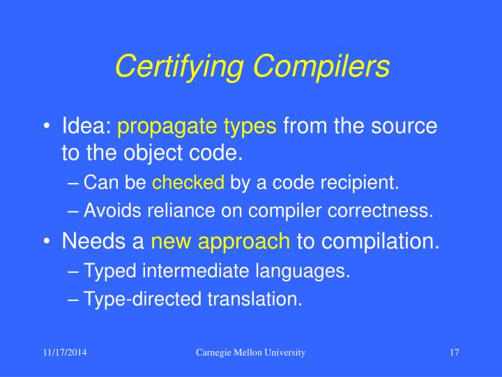 Certifying Compilers
