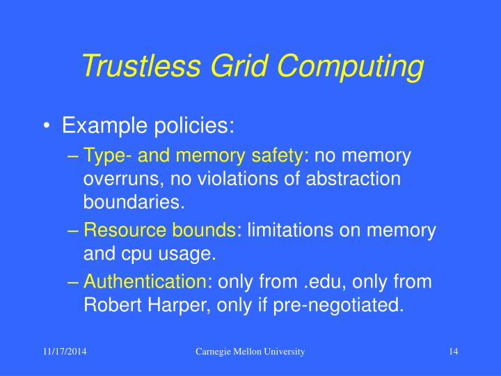 Trustless Grid Computing