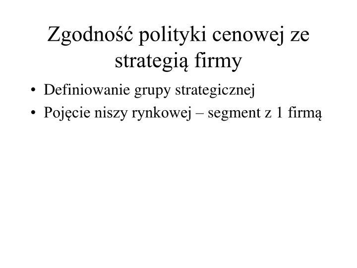 Zgodność polityki cenowej ze strategią firmy