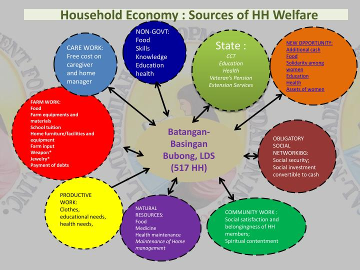 Household economy sources of hh welfare