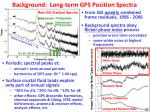 background long term gps position spectra