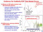 evidence for subdaily eop tide model errors