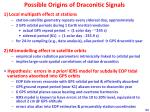 possible origins of draconitic signals