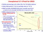 unexplained 3 7 d peak for grgs