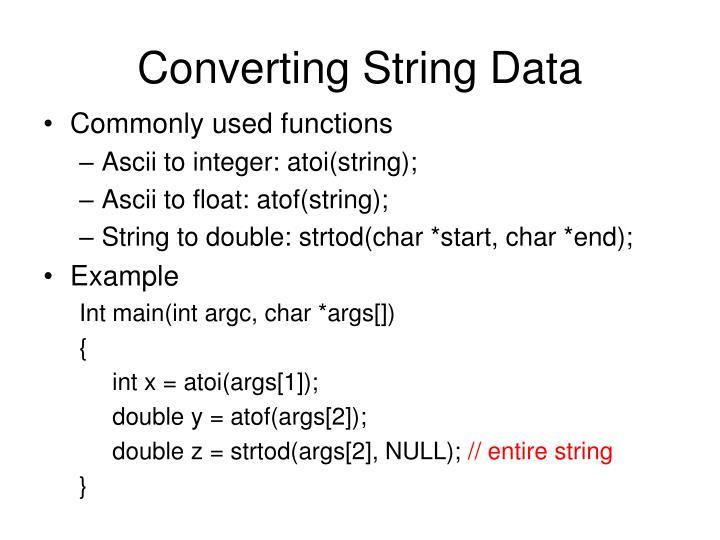 Converting String Data
