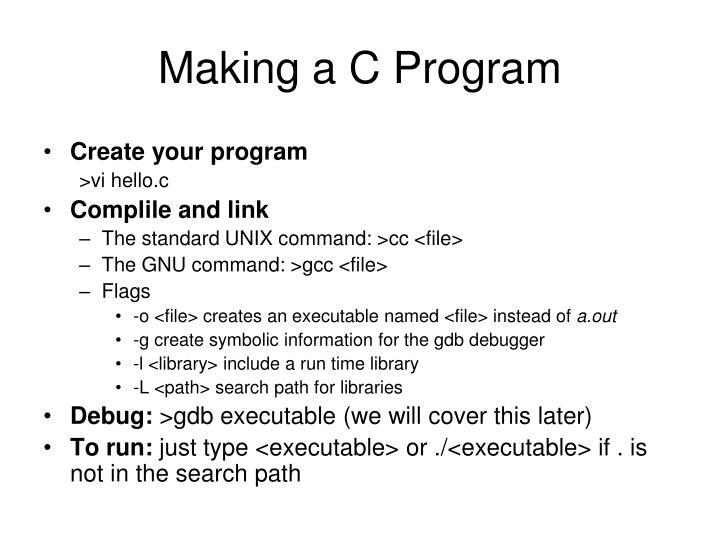 Making a C Program
