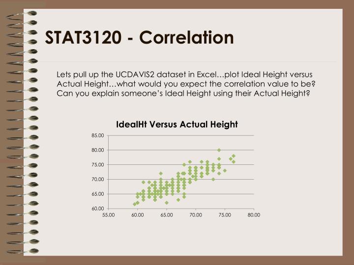 STAT3120 - Correlation