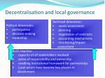decentralisation and local governance