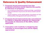 relevance quality enhancement1
