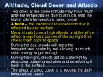 altitude cloud cover and albedo