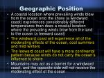 geographic position