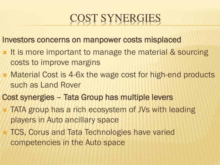 Investors concerns on manpower costs misplaced
