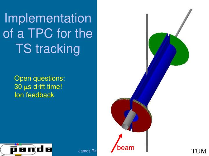 Implementation of a tpc for the ts tracking